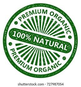 100% Natural Rubber Stamp. Premium Organic.