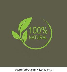 100% natural vector logo design.