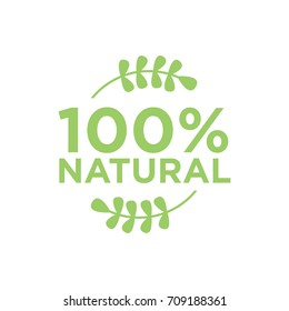 100% natural vector logo design
