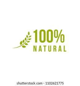 100% Natural Vector Template Design Illustration