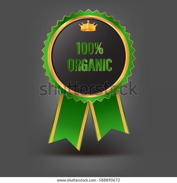 100% Organic  green label