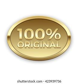 100% original vector badge, gold