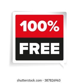 100 percent free label vector
