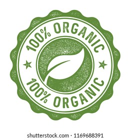 100 percent organic stamp/label