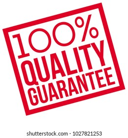 100 percent quality Guarantee typographic stamp. Typographic sign, badge or logo.