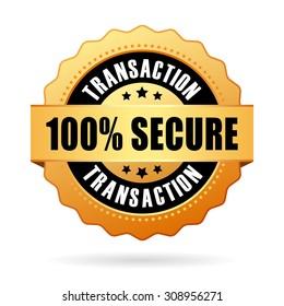 100 percent secure transaction icon