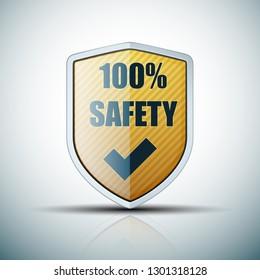 100% Safety shield illustration