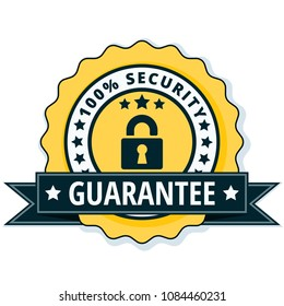 100% Security Guarantee label illustration