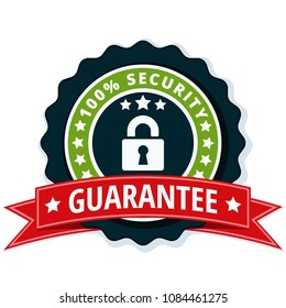 100% Security Guarantee label illustration