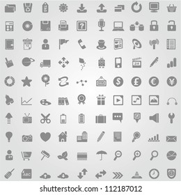 100 simple and clean web icon set