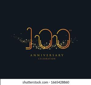 100 th anniversary celebration design template Vector.