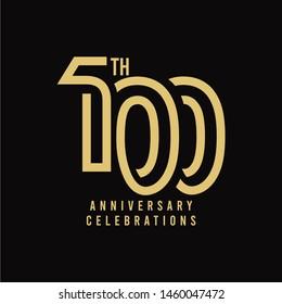 100 Th Anniversary Celebration Vector Template Design Illustration
