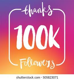 100 Thousand followers online social media achievement