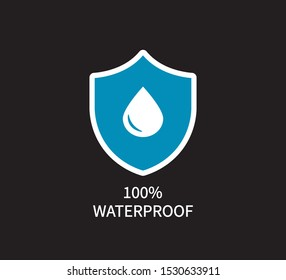 100% Waterproof Icon, Vector Design