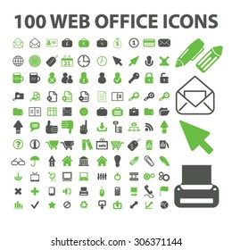 100 web office icons