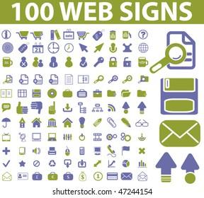 100 web signs. vector