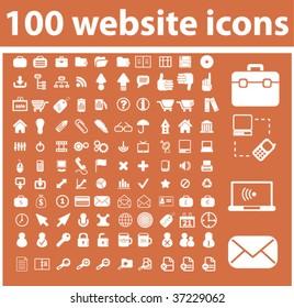 100 website icons. vector