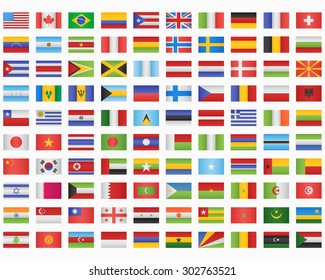 100 World Flags