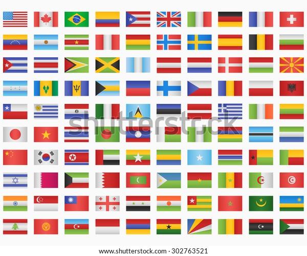 100 Weltflaggen