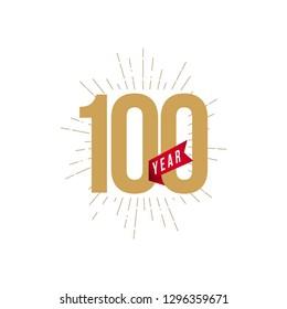 100 Year Anniversary Vector Template Design Illustration