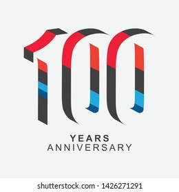 100 Year Anniversary Vector Template Design Illustration.