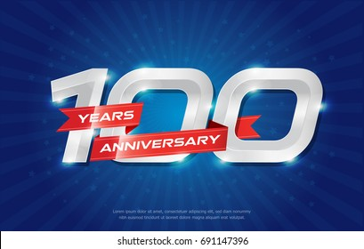 100 years anniversary celebrating numbers vector abstract polygonal silhouette. 100th anniversary concept. vector illustration