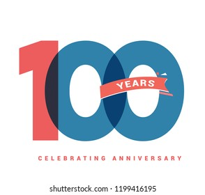100 years anniversary celebration colorful logo with fireworks on white background. 100th anniversary logotype template design for banner, poster, card vector illustrator