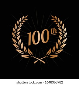 100 years anniversary celebration design template. 100th anniversary logo. Vector and illustration.