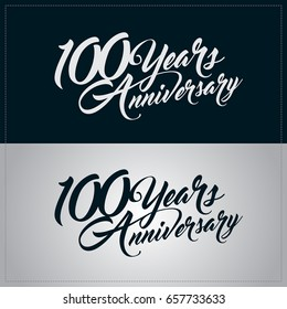 100 years anniversary celebration logotype