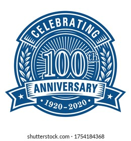 100 years anniversary celebrations design template. 100th logo. Vector and illustrations.