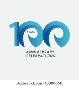 100 Years Anniversary Celebrations Vector Template Design Illustration