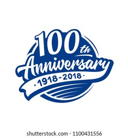 100 years anniversary design template. Vector and illustration. 100th logo.