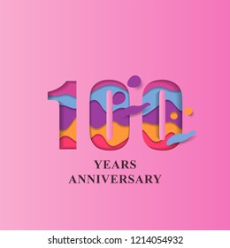 100 Years Anniversary design template. Vector eps 10