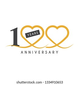 100 Years anniversary design template. Vector illustration