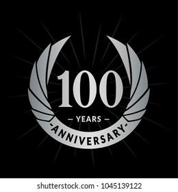 100 years anniversary. Elegant anniversary design. 100 years logo.