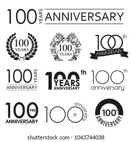 Anniversary logo images stock photos vectors shutterstock 100 years anniversary icon set 100th anniversary celebration logo design elements for birthday altavistaventures Image collections