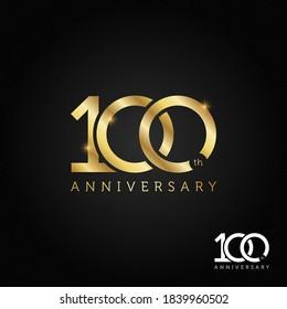 100 years anniversary logo, icon and symbol vector illustration
