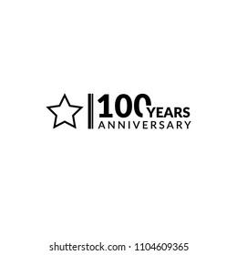 100 years anniversary, logo template.