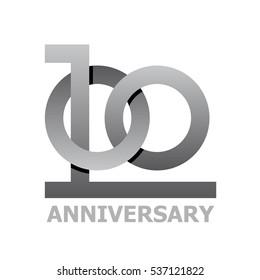 100 years anniversary symbol vector