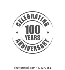 100 years celebrating anniversary logo
