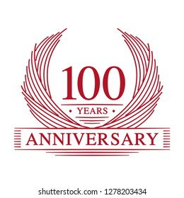 100 years design template. 100th anniversary. Vector and illustration.