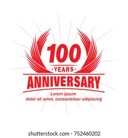 100 years design template. Anniversary vector and illustration template.
