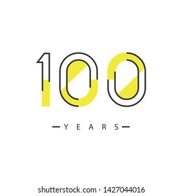 100 Years design template illustration