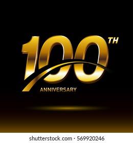100 years golden anniversary logo celebration