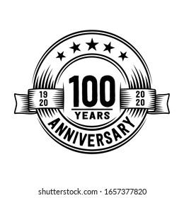 100 years logo design template. 100th anniversary vector and illustration.