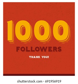 1000 Followers Thank You Post For Social Media