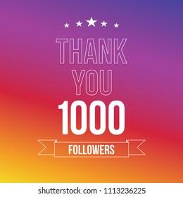 1000 followers vector illustration