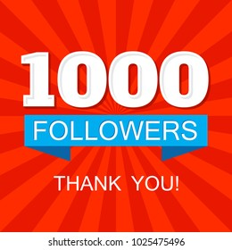 1000 (one thousand) followers social media post for networks