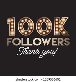 100K followers social media post template