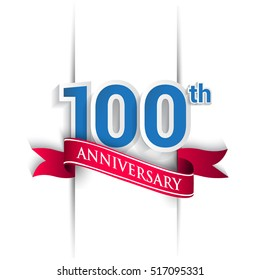 100th Anniversary celebration logo, Vector design template elements for your birthday party.